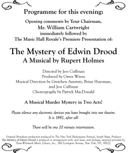 Drood-Program-Title-Page